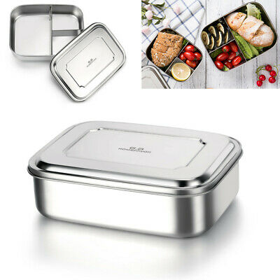Stainless Steel Bento Lunch Box Food Container with Three Compartments in AU