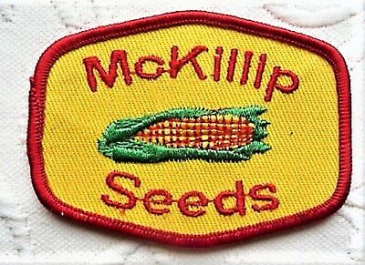 Agriculture Advertising Patch --  McKillip Seeds --  Old One !    Souvenir