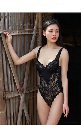 A142 Lady Women Lace Polyster Chiffon Sexy Lingerie Intimates Corsets Bustiers M