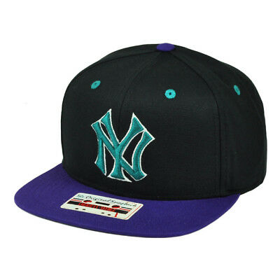 d882b8563d5 MLB New York Yankees American Needle Snapback Flat Bill Hat Cap Black Sport  NY