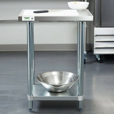 "NEW Commercial 18"" x 24"" Stainless Steel Work Prep Table With Undershelf Kitchen"