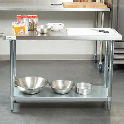 "NEW Commercial 18"" x 48"" Stainless Steel Work Prep Table With Undershelf Kitchen"