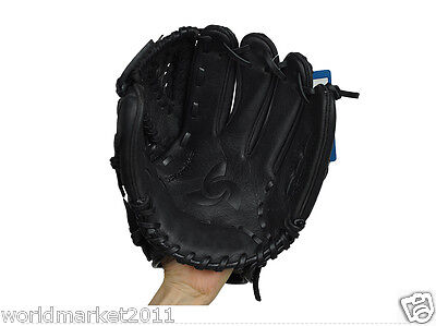 Sporting Goods Cowhide 11.5 Inches Wear-Resisting Baseball Glove Black &$