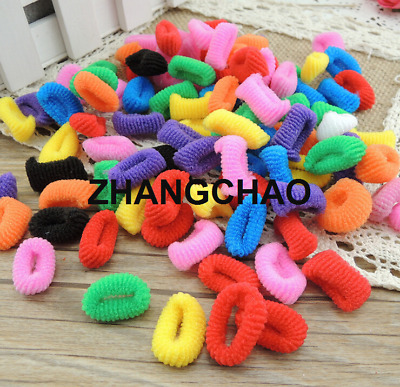 100X Girls Toddler Kids Elastic Hair Bands Bobbles Bows Low Stretch