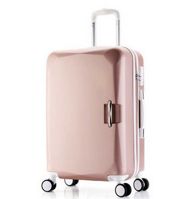 A938 Rose Gold Lock ABS Universal Wheel Travel Suitcase Luggage 26 Inches W