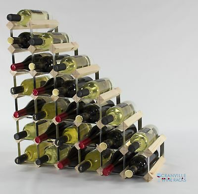 Understairs pine wood and metal wine rack ready to use