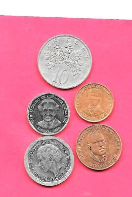 Jamaica Jamaican 5 Diff Different 1969-2008 Coin Lot Collection Set Inc Old