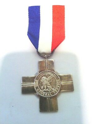 GENERAL SERVICE CROSS MEDAL. Hall Marked Silver