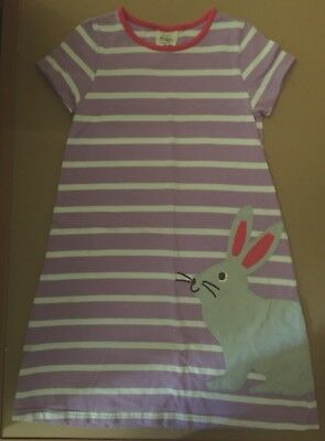 Mini Boden Girls Size 9-10 Bunny Dress Striped VGUC