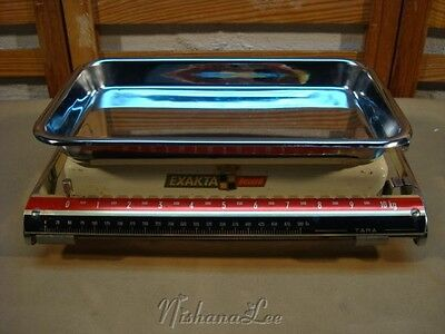 Vintage Exakta Weight Scale for Kitchen or Bakery Made in Germany - SEE VIDEO