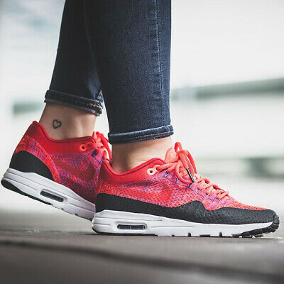 9a26a540a7d9 Nike Air Max 1 Ultra Flyknit Sneakers University Red Size 6 7 8 9 Womens  Shoes