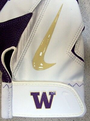 Washington Huskies Nike Diamond Elite Pro Team Issue NCAA Batting Gloves LARGE