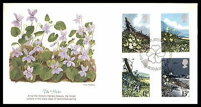 Great Britain 1979 The Violet Spring First Wildflower Combination 1979 Fleetwood