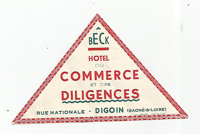 HOTEL COMMERCE ET DILIGENCES luggage label (DIGOIN)