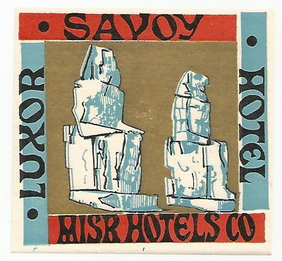 HOTEL SAVOY luggage EGYPT label (LUXOR)
