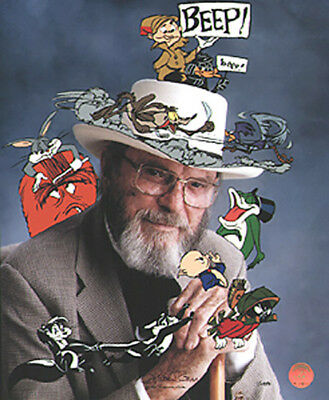 """Chuck Jones Signed """"In Character"""" 1997 Warner Brothers Limited Edition of 485"""