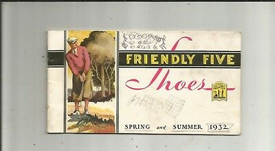 1932 Friendly Five Shoes Cunning's Troy NY Booklet Golf Cover Jarman Nashville