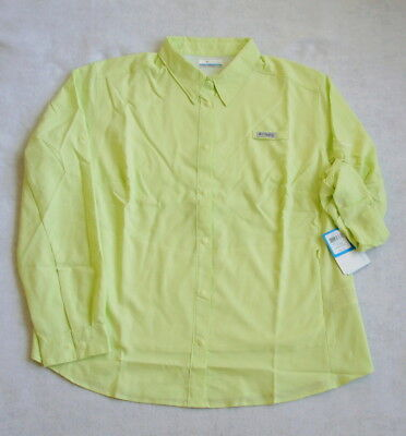 Columbia PFG TAMIAMI L/S Shirt  Women's 3X  NEW  Spring Yellow