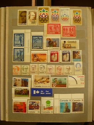 Canada, old, MNH stamp collections, several valuable items, sets.