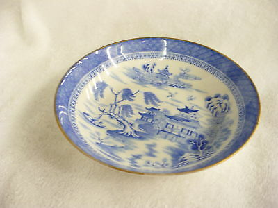 Dc- Vintage  Asian Blue & White Shallow Dish 1327 G