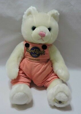 Hard Rock Hotel Chicago Cat Plush Stuffed Animal White Kitty Soft 12""