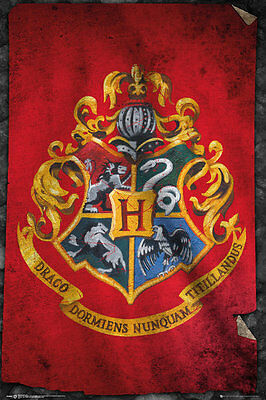 HARRY POTTER Poster - HOGWARTS FLAG - NEW HARRY POTTER POSTER FP3955