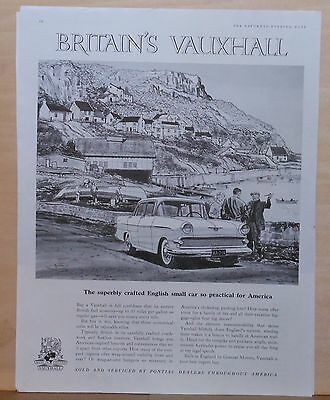1959 magazine ad for Vauxhall - English small car practical for America