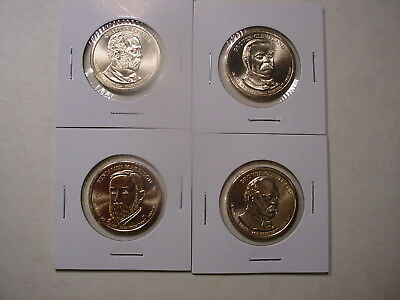 2012 All 4 Presidential D Dollars - BU - 4 Coins - Uncirculated