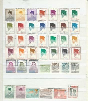 Indonesia nice page of stamps, good range of items [2156]