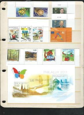 Luxembourg nice recent issues unhinged mint recent, FV over 13 Euros   [2181]