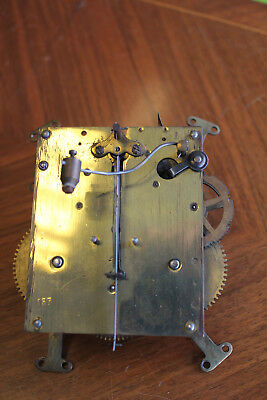 antique british mantel clock mechanism with chime and key spares repairs parts