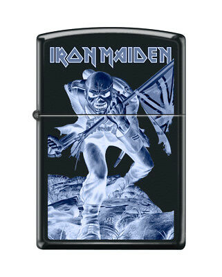 "Zippo ""Iron Maiden"" Black Matte Finish Lighter, Full Size,  3383"