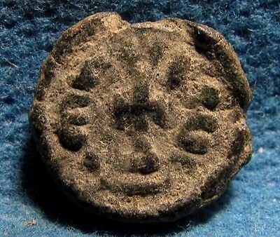 Alexandria Heraclius 610-641AD. BYZANTINE EMPIRE Ancient AE 6 Nummi Cross coin