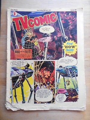 TV Comic from 1967 with Doctor Who & The Daleks, Patrick Troughton, in colour