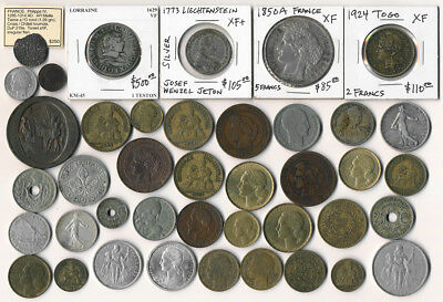 41 Old France & Ex-Colony Coins >>> Many Collectibles (Must See)  >>> No Reserve