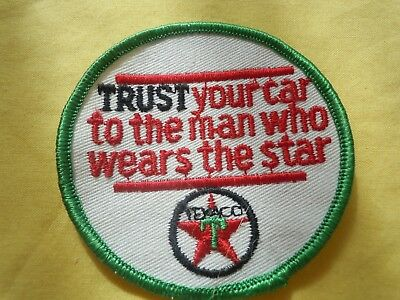 Texaco Trust Your Car To The Man Who Wears The Star Embroidered Patch Free Ship