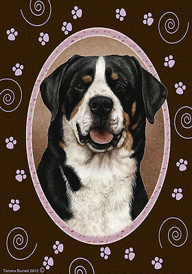 Large Indoor/Outdoor Paws Flag - Greater Swiss Mountain Dog 17144