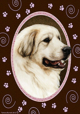 Large Indoor/Outdoor Paws Flag - Great Pyrenees 17146