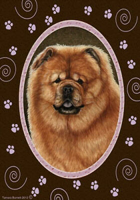 Large Indoor/Outdoor Paws Flag - Chow Chow 17114