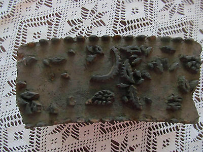 Antique Wooden Hand Carved Textile Fabric Stamp~Primitive Printing Wood Block