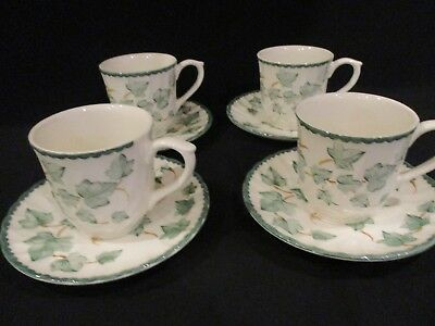 British Home Stores BHS Country Vine Mugs & saucers x 4