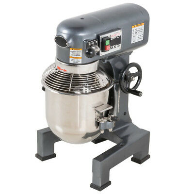 3/4 HP 10 Qt Commercial 3 Speed Dough Food Stand Mixer Gear Driven Pizza Bakery