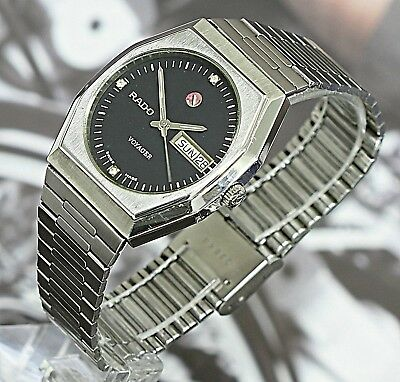 Superb! Vintage Rado Voyager Day&Date Swiss Made 17Jewels Automatic Men's Watch
