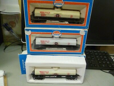 HO Scale-Model Power- Lot No. 36 - Set of 3  Tank  Cars   in Boxes