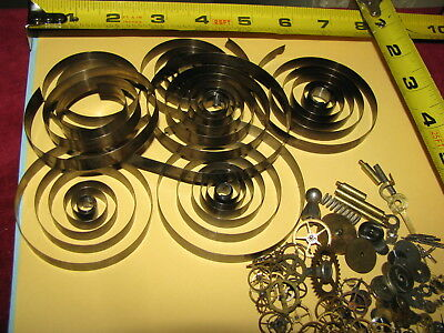 Watch Clock Parts Hand Spring Gear Steampunk 135 Pc VTG Lot Crafts Altered Art