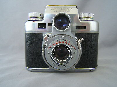 Vintage Bolsey Model C Twin Lens Reflex Camera