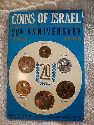 Js- 1948-1968 20Th Anniversary  Coins Of Israel 6 Coins   (Sealed) #14777