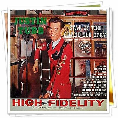 JUSTIN TUBB: Star Of Grand Ole Opry ♫ 1962 Starday LP ~ his first Starday album