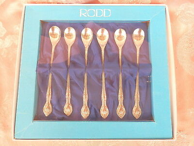 BOXED  RODD  SILVER GLORY    Parfait Spoons   SILVER PLATE    Vintage