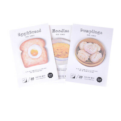 cute Breakfirst Food memo pad paper sticky notes kawaii stationery school supply